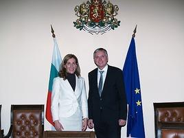 Treffen der Verkehrsminister – Alois Stöger und Nikolina Angelkova
