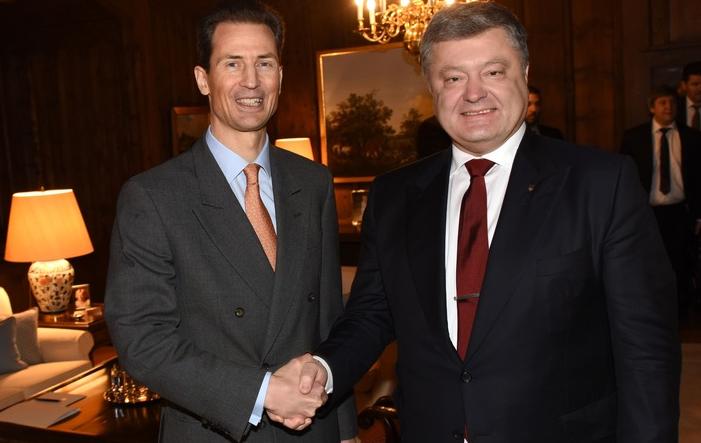 Ukrainischer Präsident Poroshenko zu Besuch in Liechtenstein